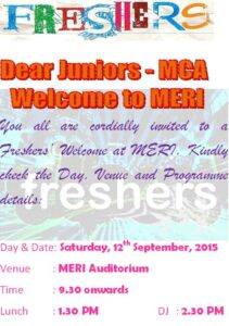 Mca freshers september 12 2015 management education and mca freshers september 12 2015 management education and research institute stopboris Image collections